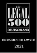 The Legal 500 – recommended lawyer
