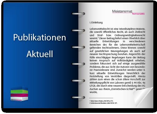 Neue Publikation der Kanzlei Meisterernst