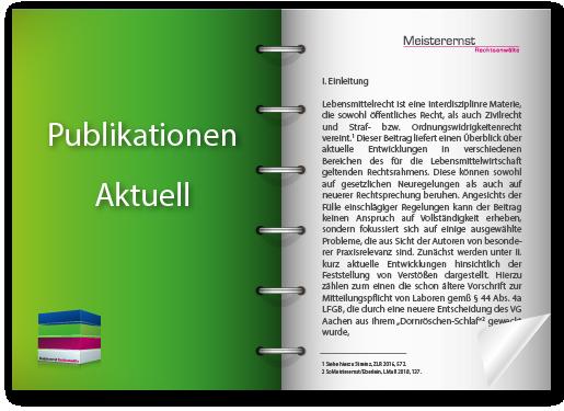 Aktuelle Publikation der Kanzlei Meisterernst